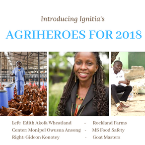 Ignitia's 2018 best Advocates for Agriculture.