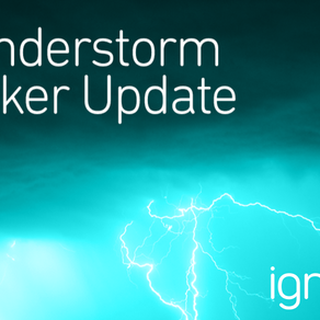 Update on ignitia's thunderstorm tracker