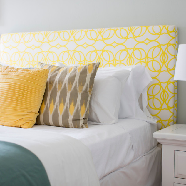 Blue and Yellow Bed