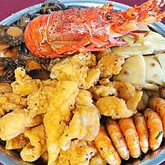 龍蝦鮑魚海鮮盆菜
