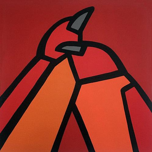 """RedBirds    •      20"""" x 20"""""""