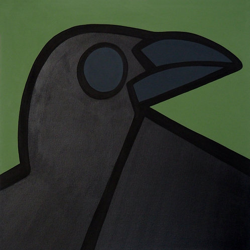 "Crow    •      24"" x 24"""
