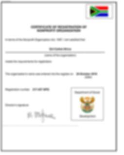 NPO Certificate GCA Department Social De