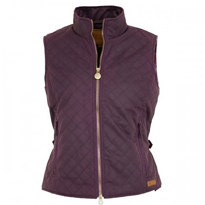 Women's Quilted Oilskin Vest