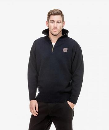 Mariner Wool Zip Neck Jersey