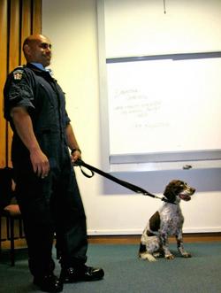 Drug-sniffing Dog Talk and Demo