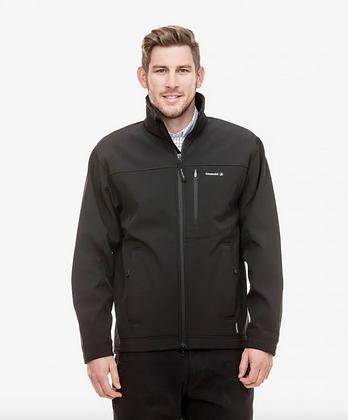 Black Softshell Jacket with Fleece Lining