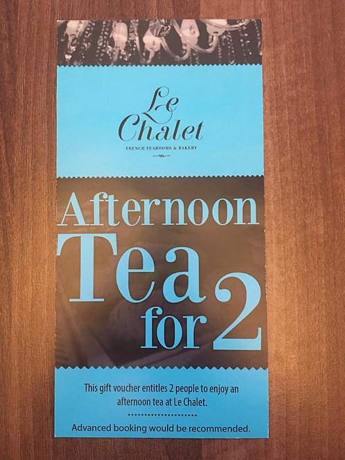 Afternoon Tea Tea for 2 Voucher