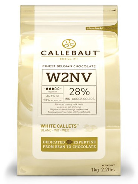 Callebaut White Chocolate Bakestable Chips 2.5K