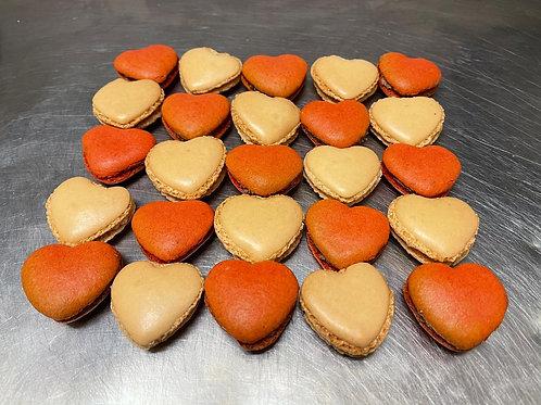Box of 7 Heart Macaroons