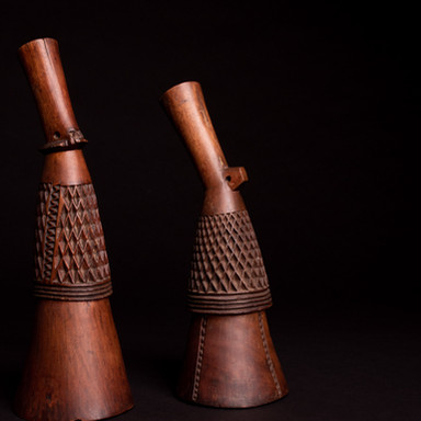 Bemba pipe stems, 19th cent