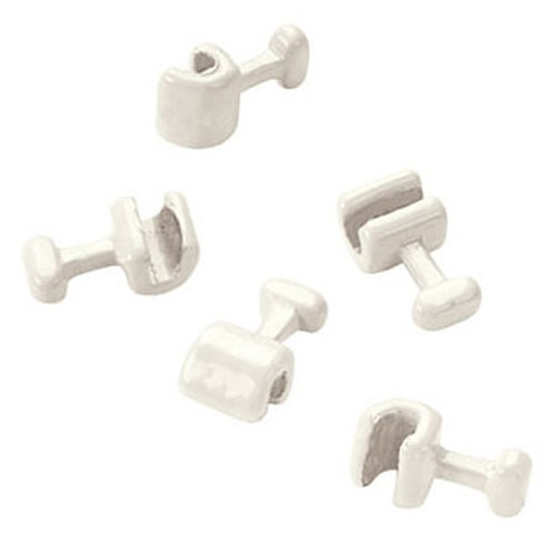 CRIMPABLE BALL HOOKS TOOTH COLORED short