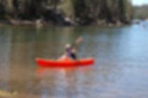 Single kayaker on Lake Alpine.