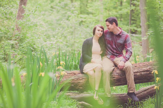 Camping themed engagement session!