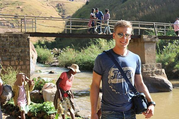 Mann mit Sonnenbrille Ampefy Madagaskar