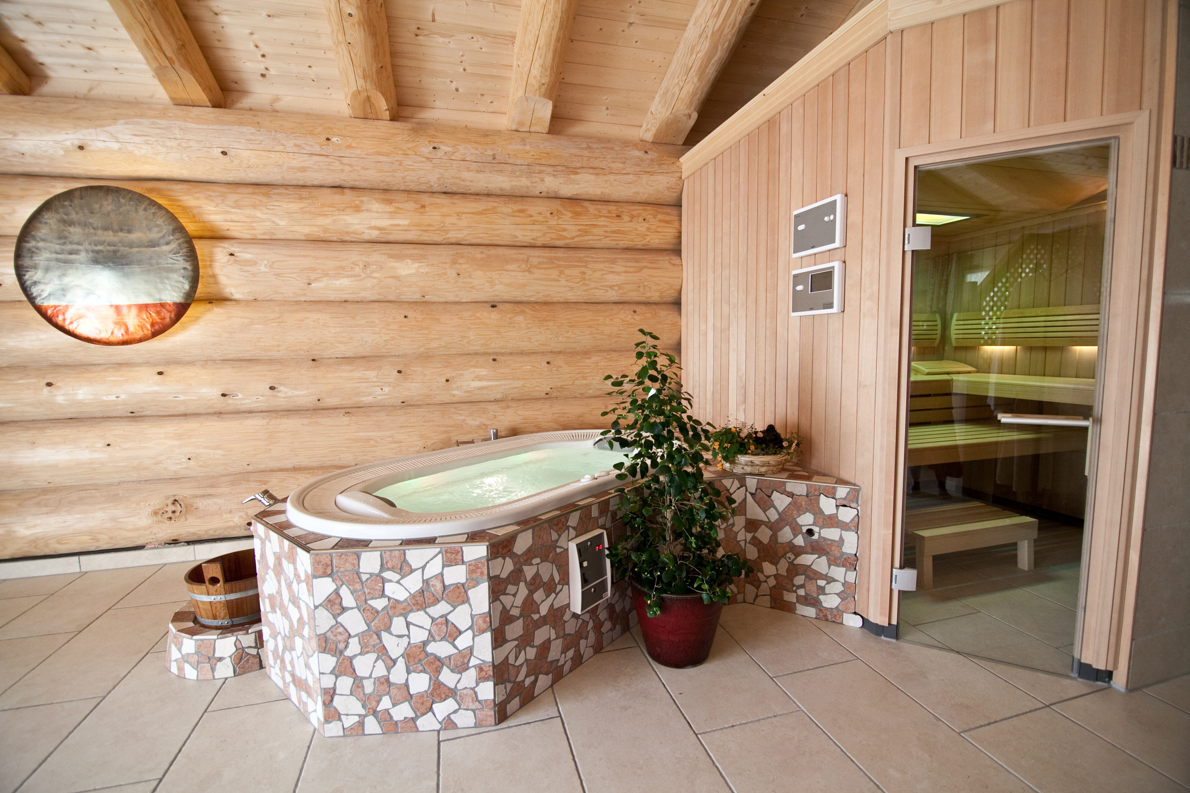 Sauna-Wellness-Blockhaus