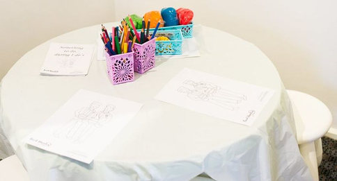Children's Activity Table Photo by Aria Photography