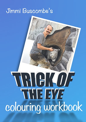 Printed Trick of the Eye Colouring Workbook - for individuals and households