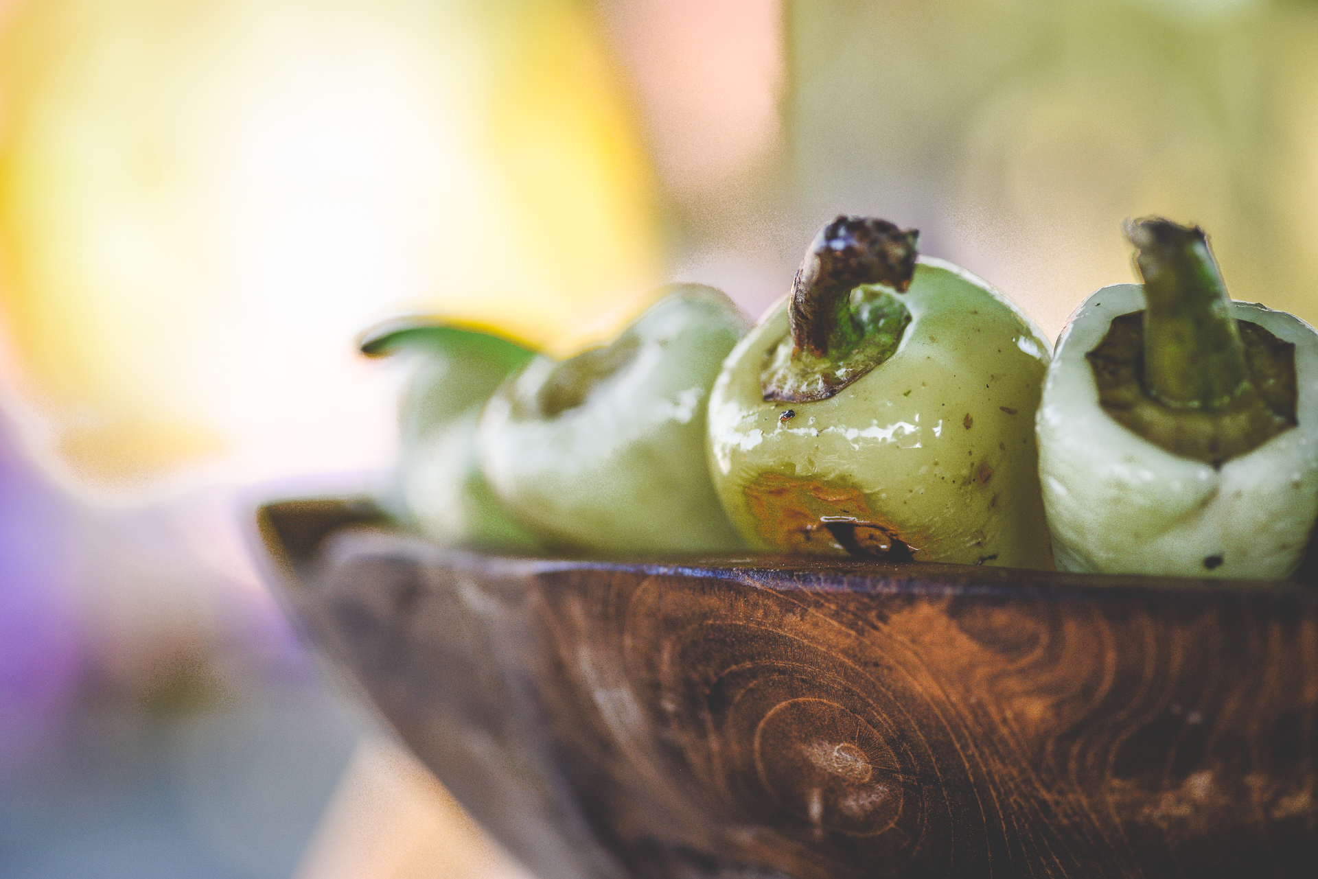 grilled yellow peppers