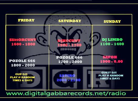 DGR Radio time tabel
