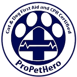 Pet first aid and cpr certification badge