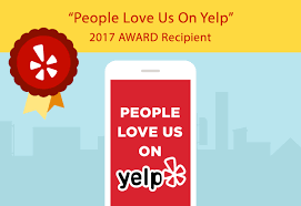People Love Us on Yelp Award 2017 Green Doggie Home Boarding.