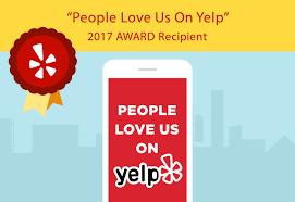 People Love Us on Yelp Award 2017 Green Doggie Home Boarding.