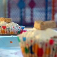 Apple peanut butter pup-cake