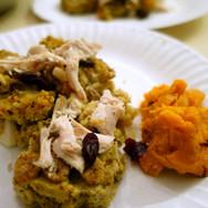 Thanksgiving dinner | Turkey w/ quinoa, yams, & cranberries