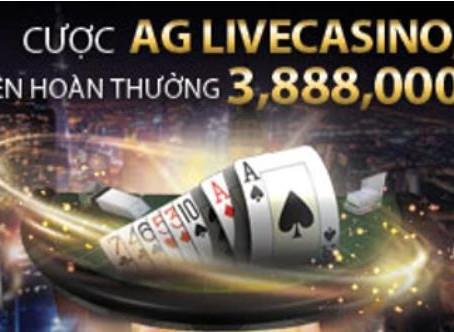 【FB88】Cược AG Live Casino , Baccarat thắng liên hoàn thưởng 3,888,000 VND →K8VN