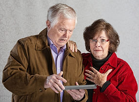 Older couple needing help to use their iPad