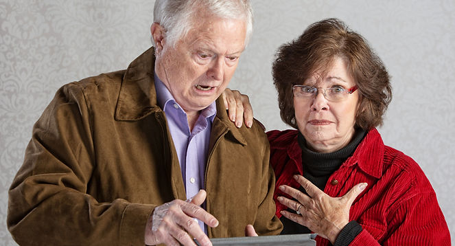 Older couple confused by iPad