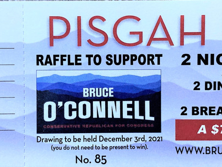 Raffle to support Bruce OConnell for Congress
