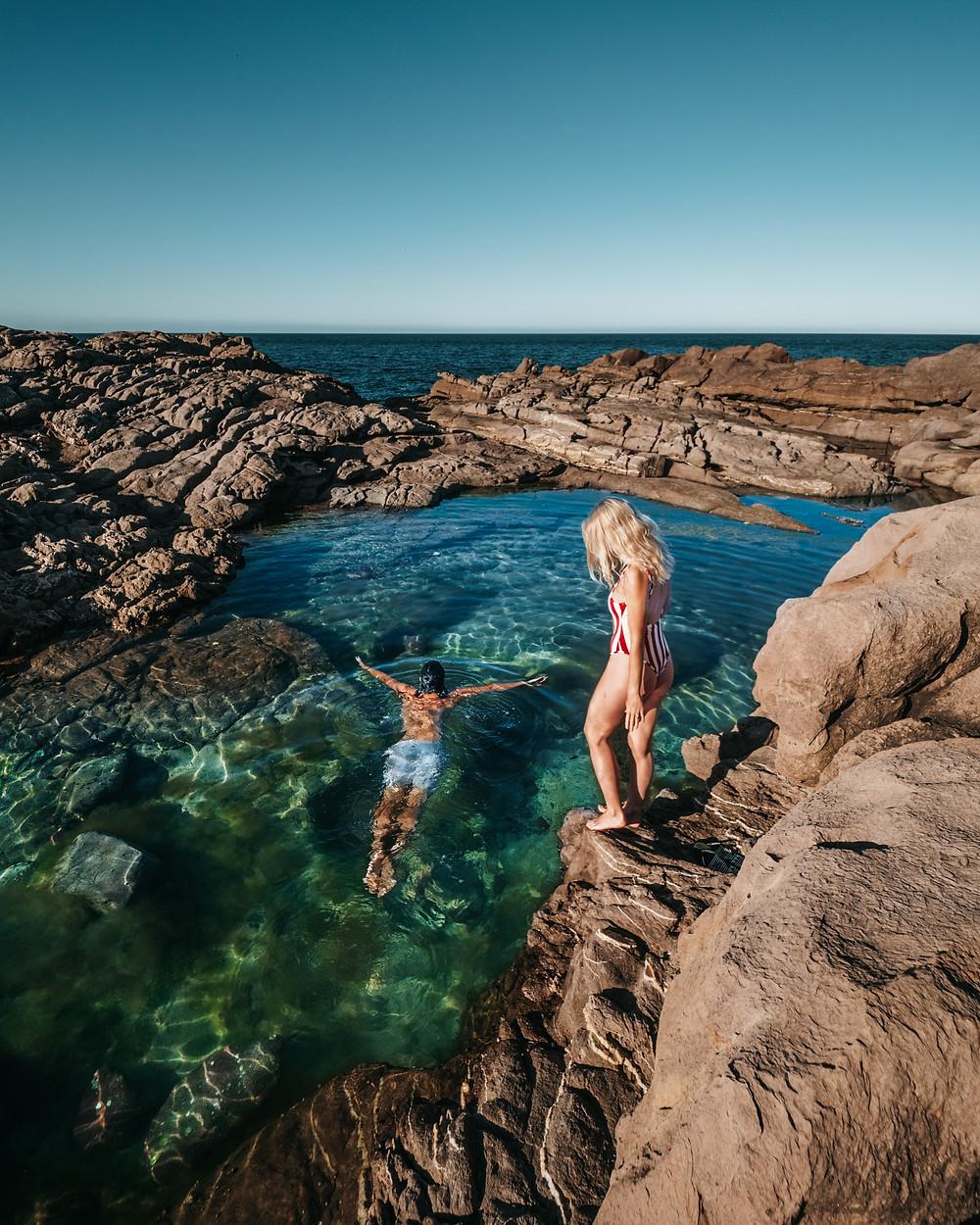 Tura Head rock pools, Sapphire Coast, NSW Australia (road trip)