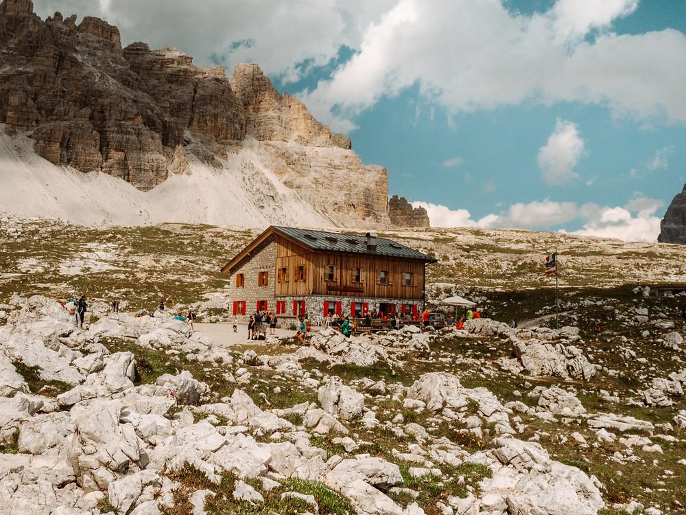 Rifugio Lavaredo, Tre Cime Di Lavaredo, Dolomites, Italy