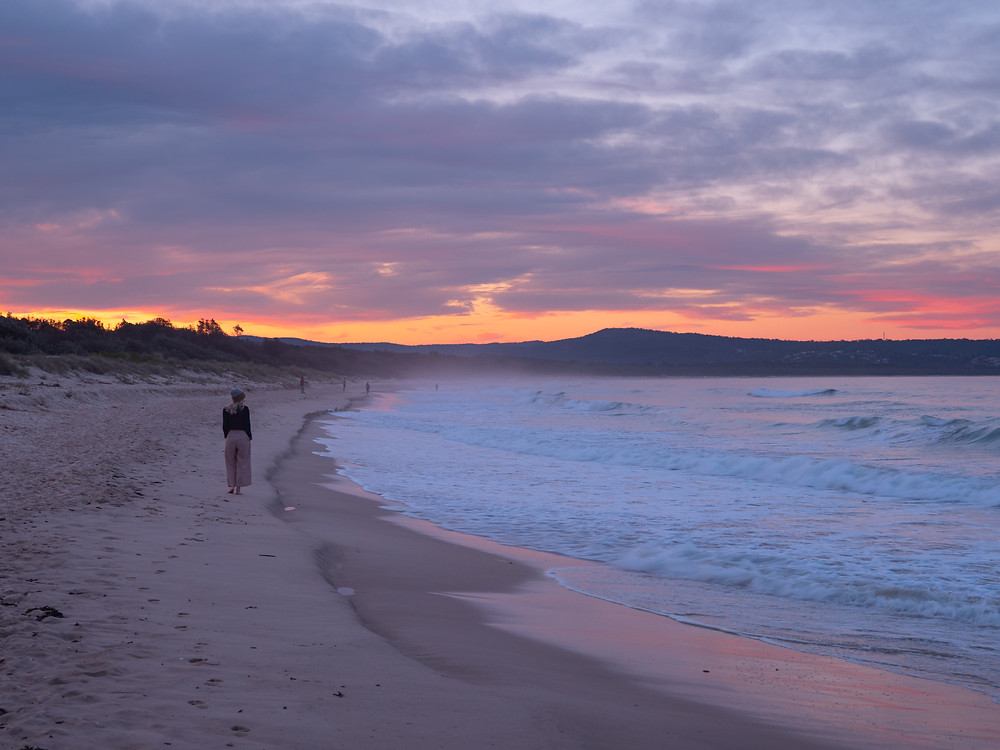 Sunset, road tripping in Sapphire Coast NSW, Australia