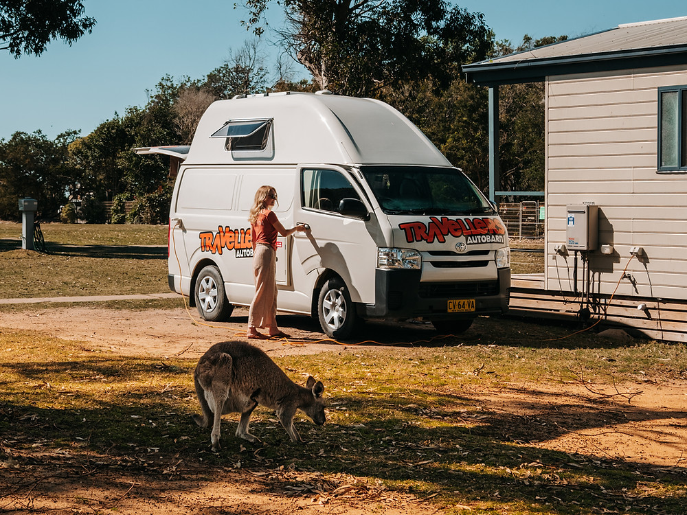 Road tripping in a campervan on the Sapphire Coast, NSW Australia
