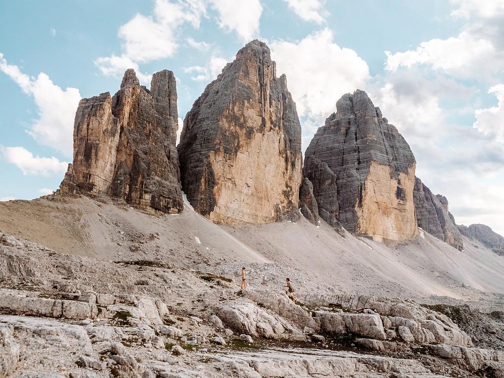 Instagrammable photo locations, Tre Cime Di Lavaredo, Dolomites Italy