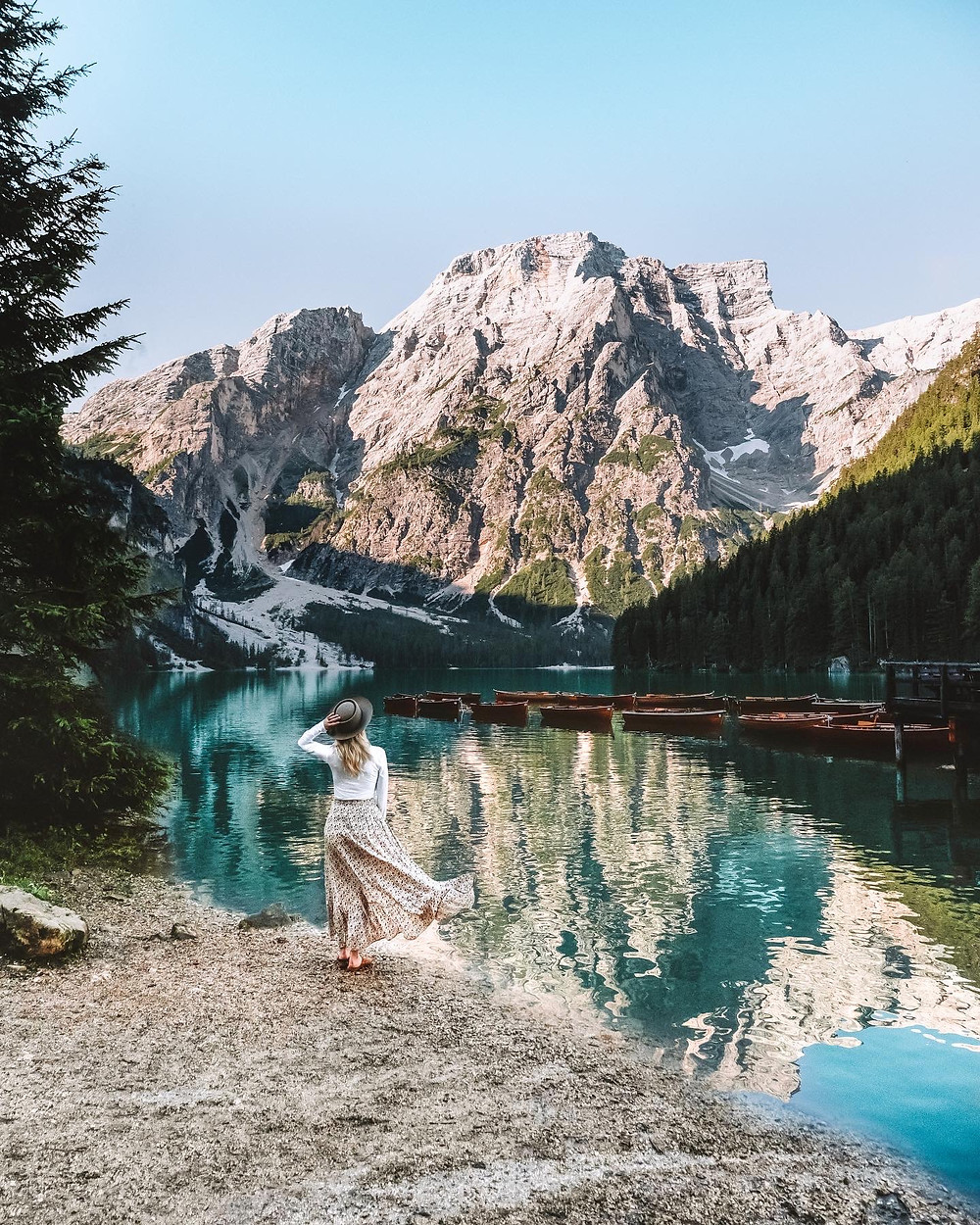 Instagrammable location, Lago Di Braies, Dolomites Italy