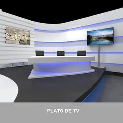 8 SET PLATO DE TV