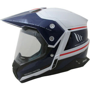 MT Helmets SYNCHRONY DUO VINTAGE White Blue