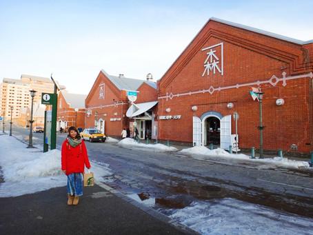 哈囉北海道|函館|函館朝市的食字路口,港口的金森紅磚倉庫。