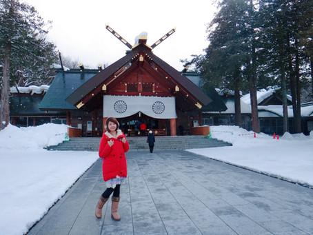哈囉北海道|札幌|北海道神社裡的狐狸,我的白色戀人。