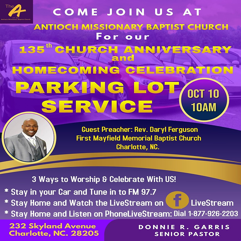 135th Anniversary & Homecoming Parking Lot Celebration
