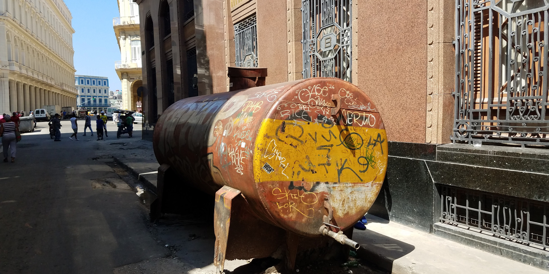 Septic tank in the streets