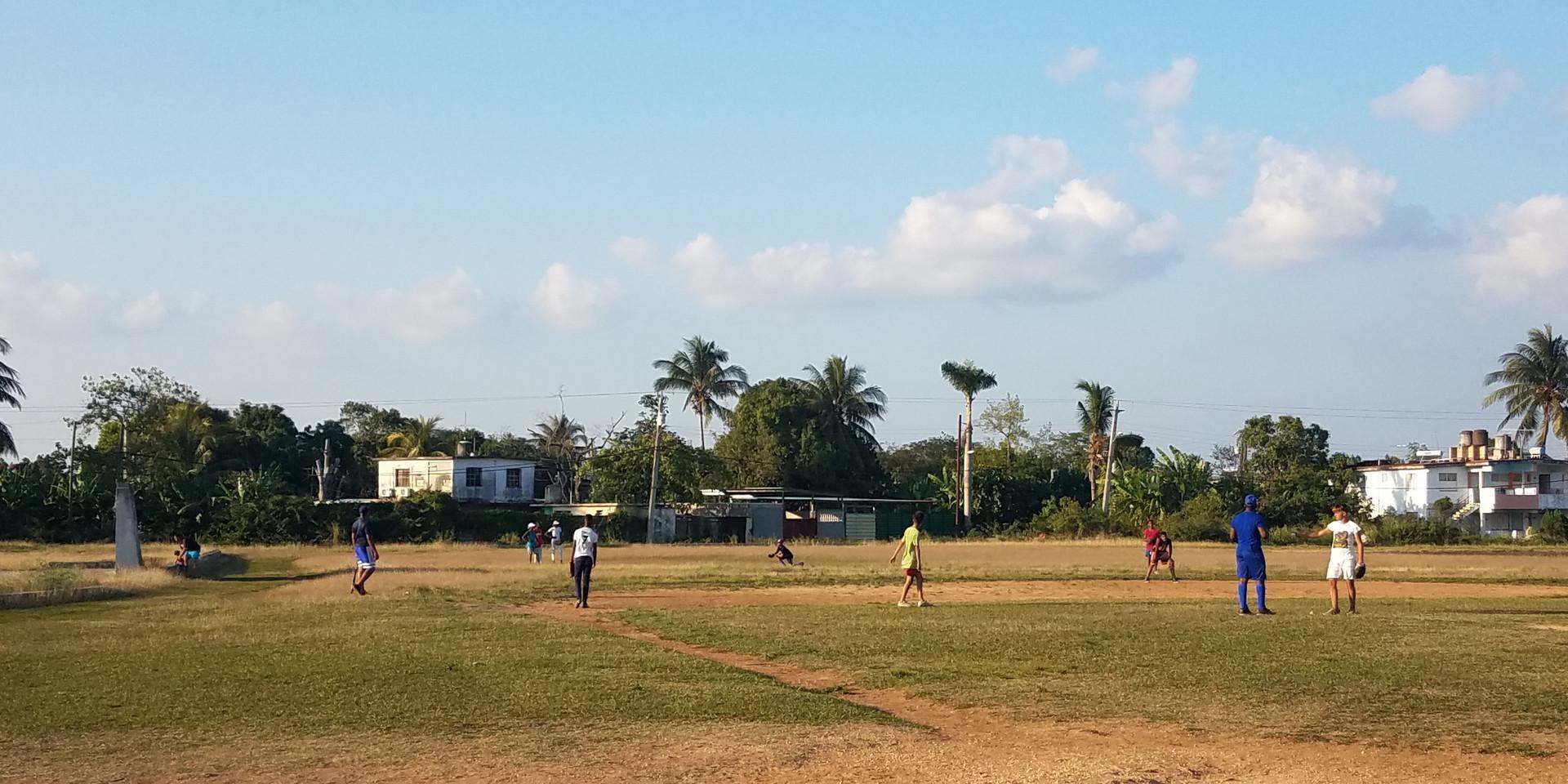 Baseball field near New Jerusalem in Havana