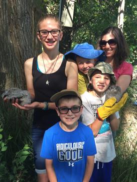 Homeschool Family Assist banding owlets.