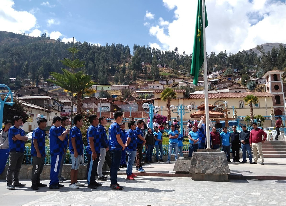 Inauguración del Campeonato Intercomunidades 2019 en el distrito de Huachis