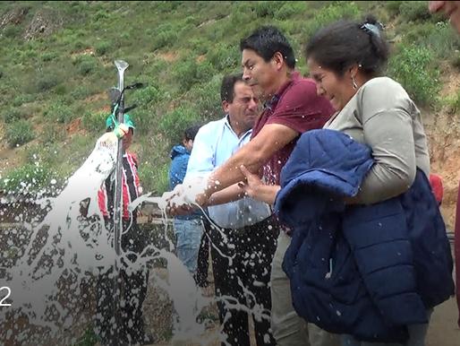 SE COLOCÓ PRIMERA PIEDRA EN EL CASERÍO DE QUICHUAS-HUACHIS-HUARI- ANCASH