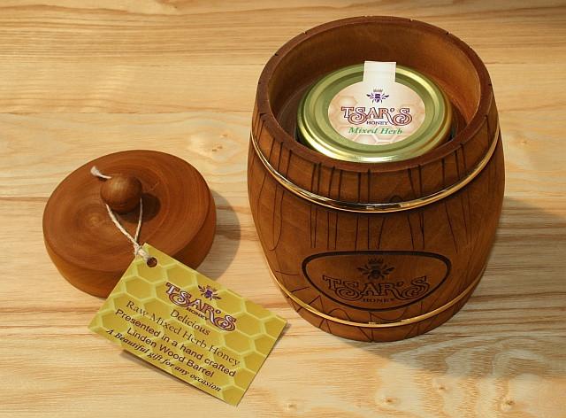 Wooden Honey Barrel